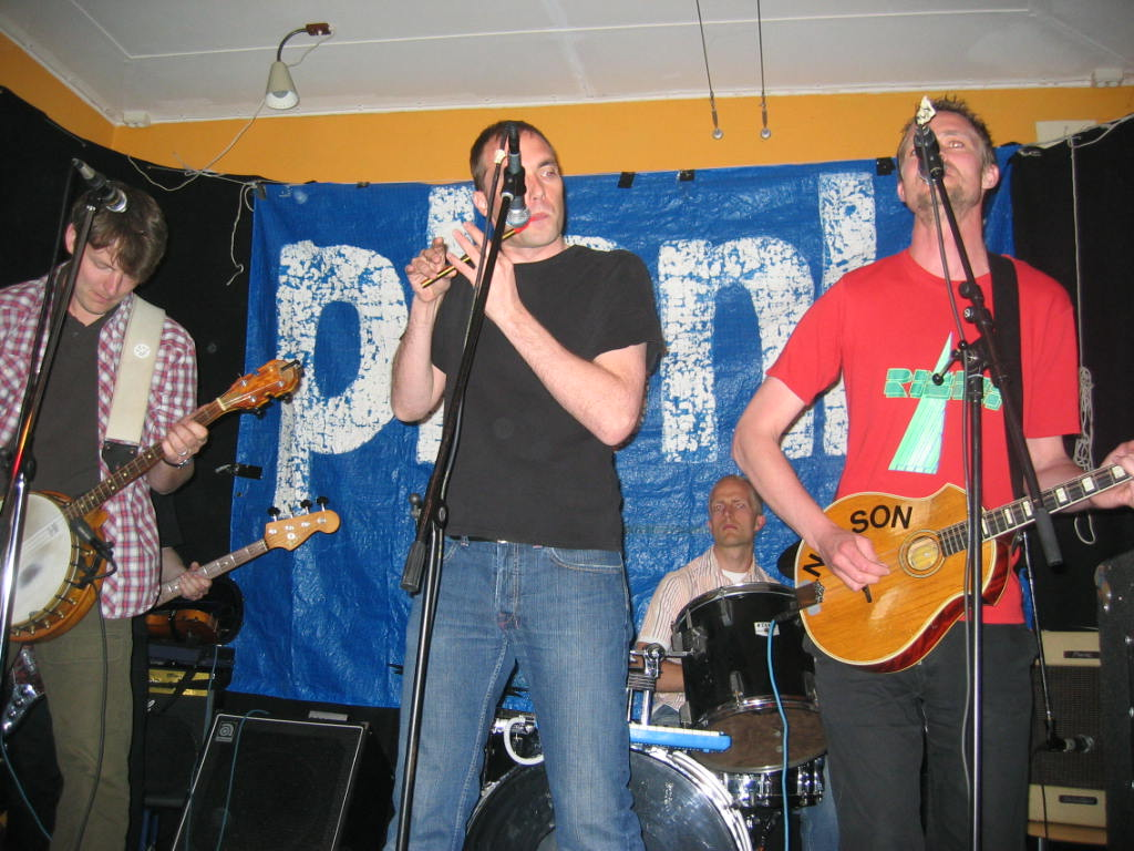 Från vänster: Henrik, Ulrik Tofte Jespersen, Hasse Tang och Steffen Galster