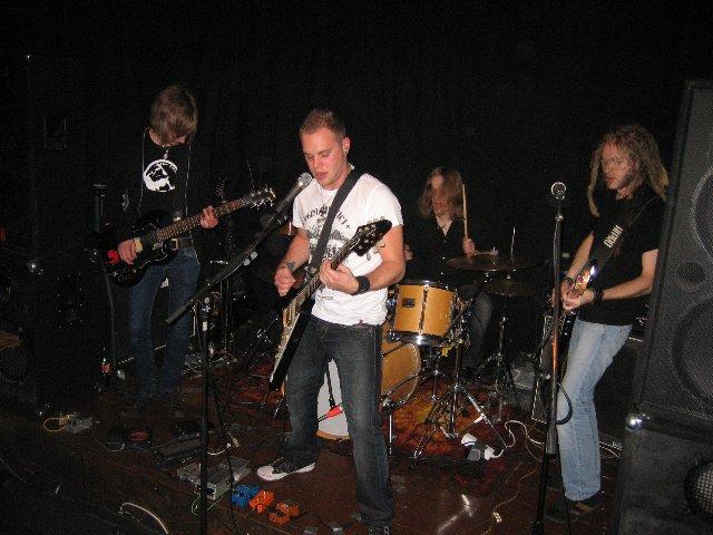 Från vänster till höger: Jimmy, Jojje, Tintin, Persson
