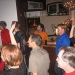 Mr Grant Ändy triggade, stod i baren och diggade